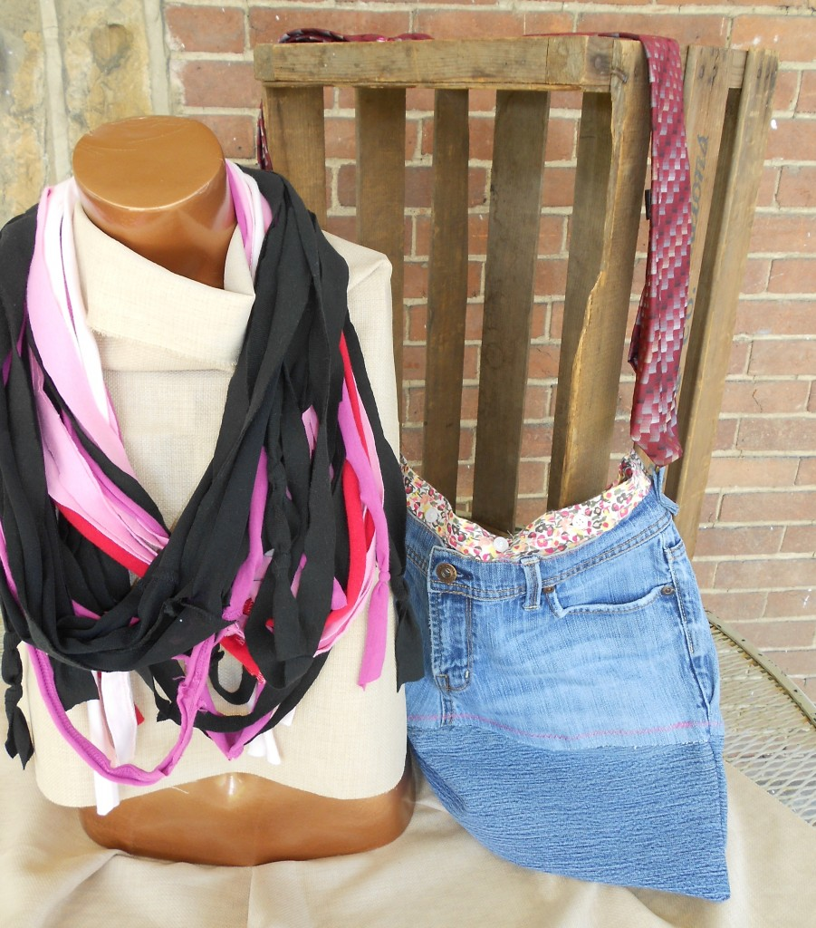 Repurposed Scarf %26 Bag